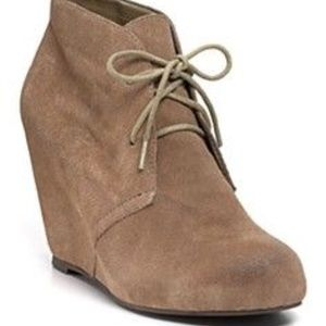 DV by Dolce Vita Pascal taupe suede lace up bootie